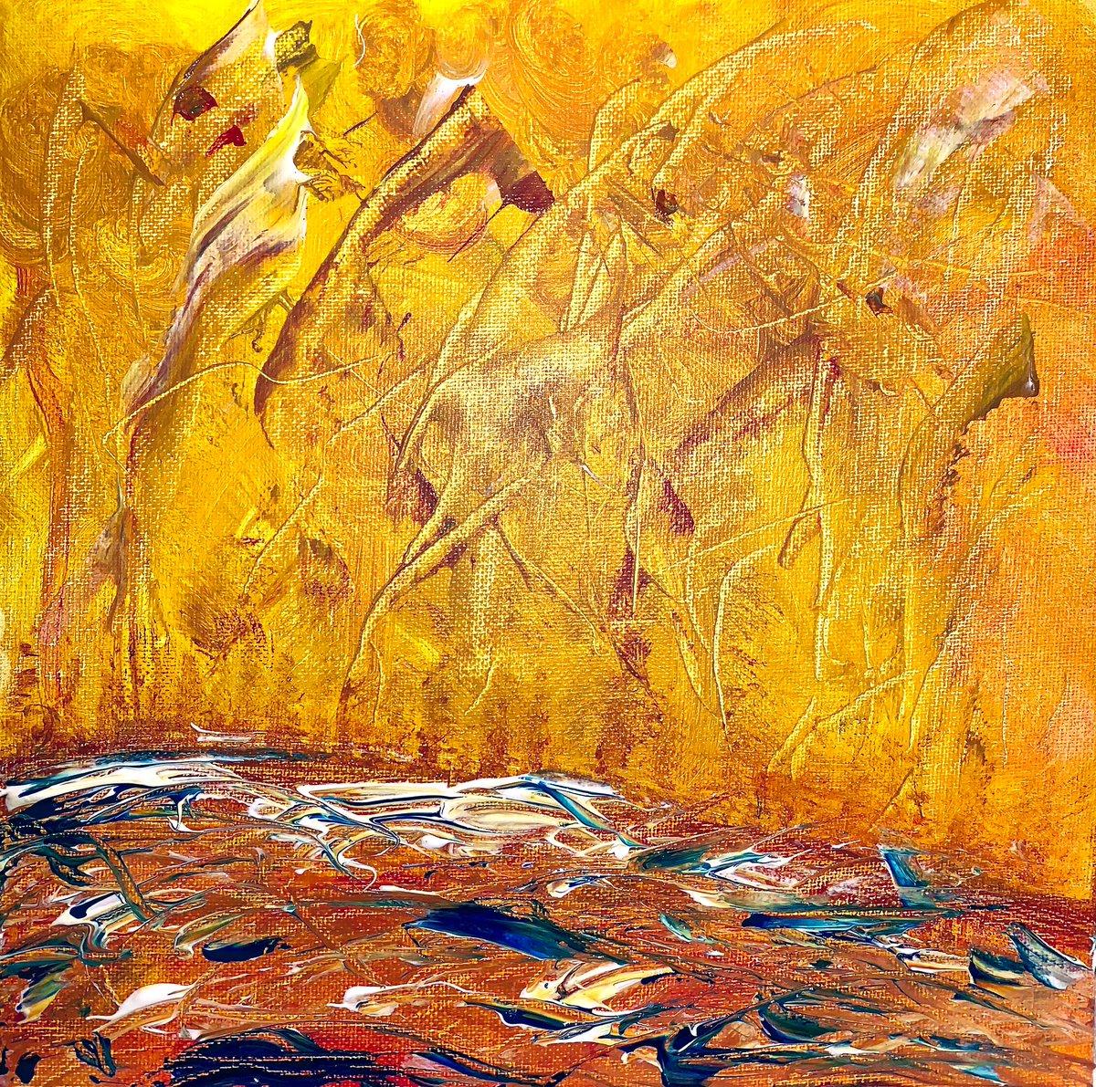 ✨Fire Lake✨  10 x 10 acrylic on canvas  #painting #abstractpainting #abstractart #abstract #painting🎨 #artiseverywhere #artist #artists #artistsofinstagram #artistsoninstagram #artistsofinsta #acrylicpainting #acrylic #art #nature #austin #austinartist #atx #impressionism