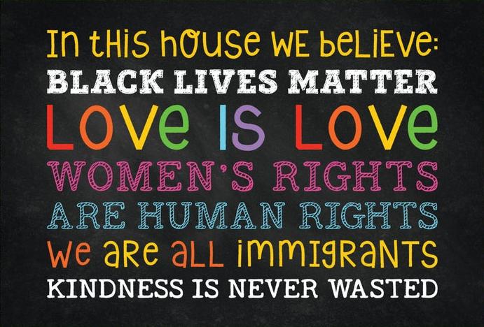 Daily reminder:  #BlackLivesMatter #LoveIsLove