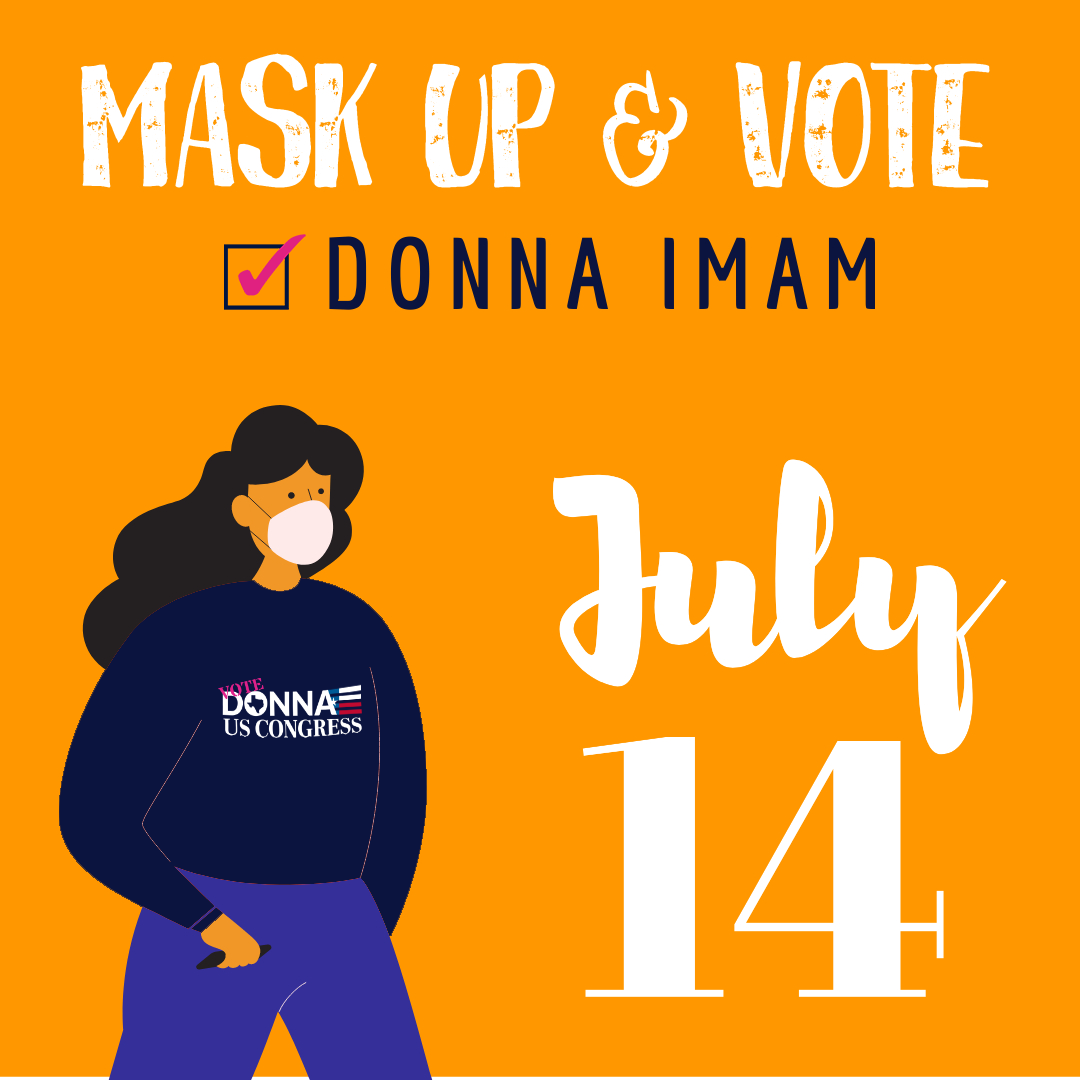 It's runoff Election Day in Texas. Make your voice heard! ✅ VOTE DONNA IMAM
