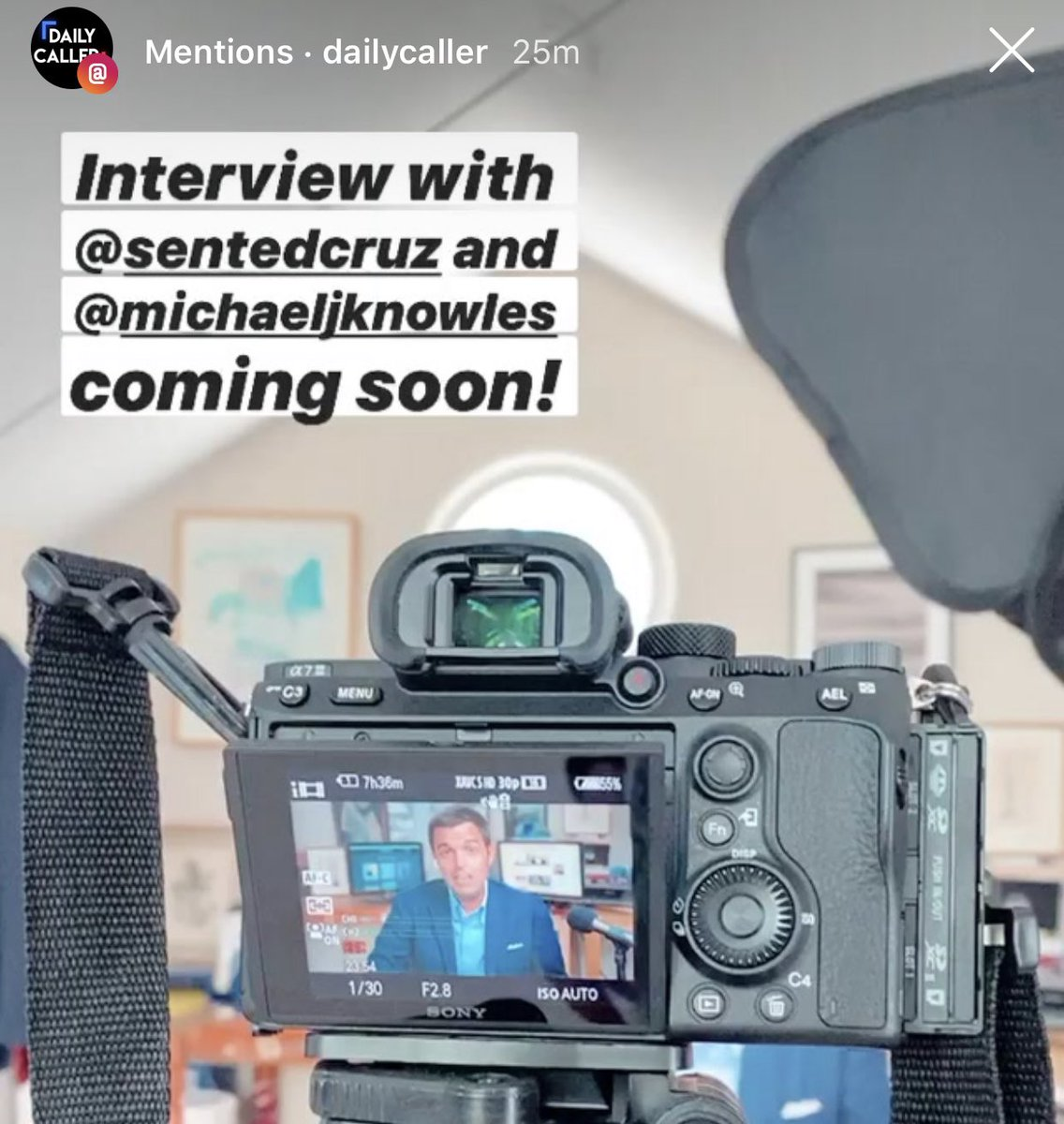 Just had a great interview with @TedCruz & @michaeljknowles.   Check out their podcast, #Verdict, and look for news from the interview soon on @DailyCaller
