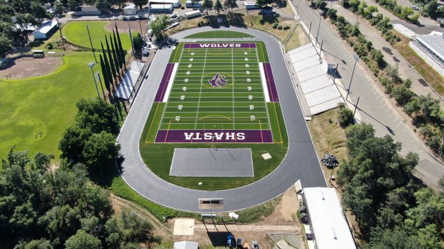 #TurfTuesday Our team recently completed this stunning #syntheticturf field for Shasta Union High School District. #waytogo #football #field #ittakesateam