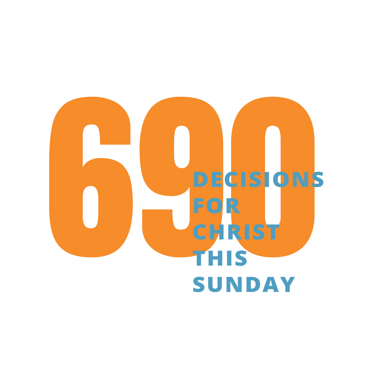 690 people made decisions for Christ during our Sunday services this weekend!