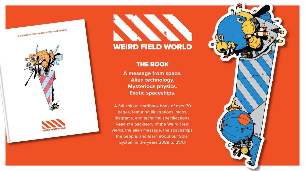 My Kickstarter is now LIVE! Click the link if you'd like to find out more of the Weird Field World.    #weirdfieldworld #sciencefiction #kickstarter #spaceships