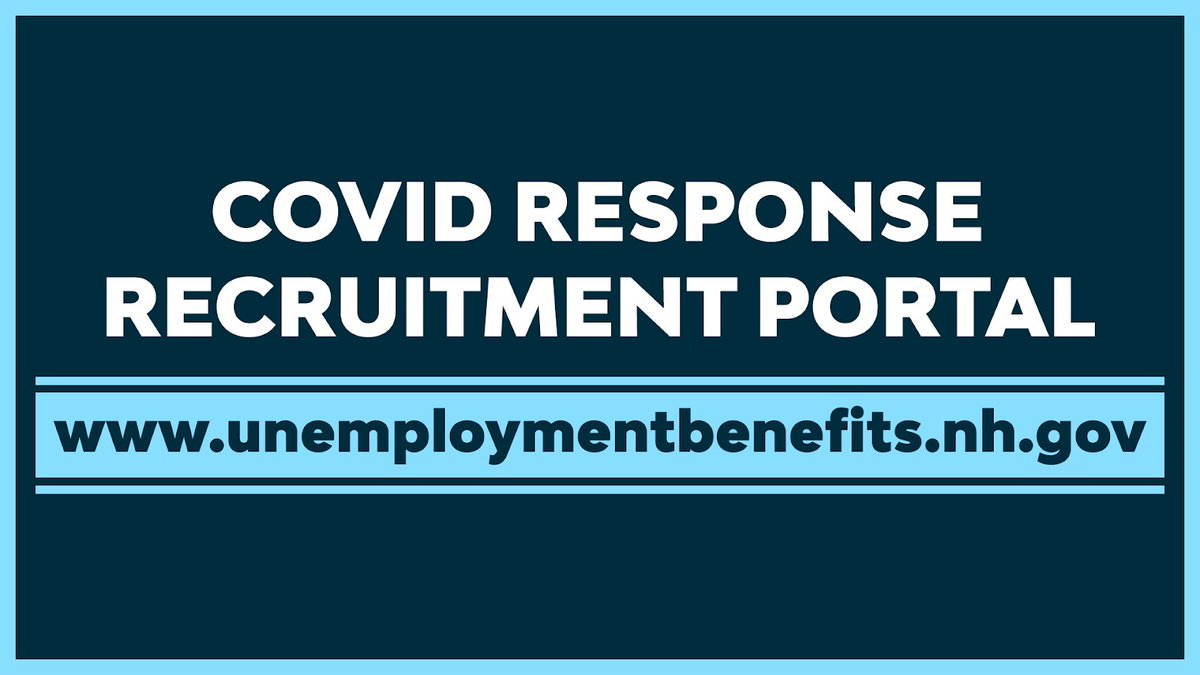 Today we're launching our #COVID19 Response Recruitment Portal - a new, simple, streamlined approach to connecting job-seekers with employers and high-paying jobs available across the Granite State.  View the portal here: