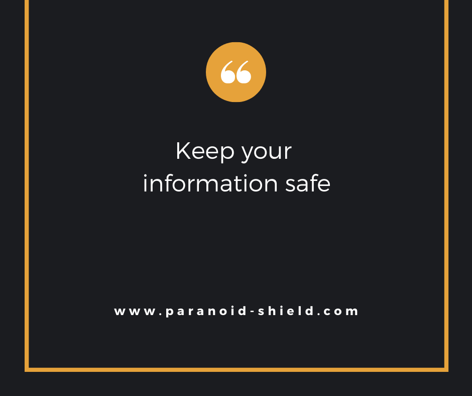 Keep your information safe with #ParanoidShield  #Security #Windows #WhatsApp #Free #PasswordManager
