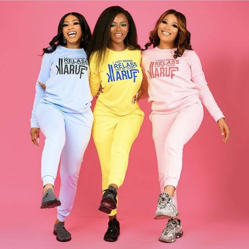 Which colour are you rooting for from this collection from @mnm_luxury by @real_mercyeke ->  The Blue, The Yellow or the Pink 💙💛💞.. Rt & comment  👩🏻🦱 @real_mercyeke @DianeRusset and Mimi    #ZenMagazine #bbnaija #BlackLivesMatter #RelassMerchOut