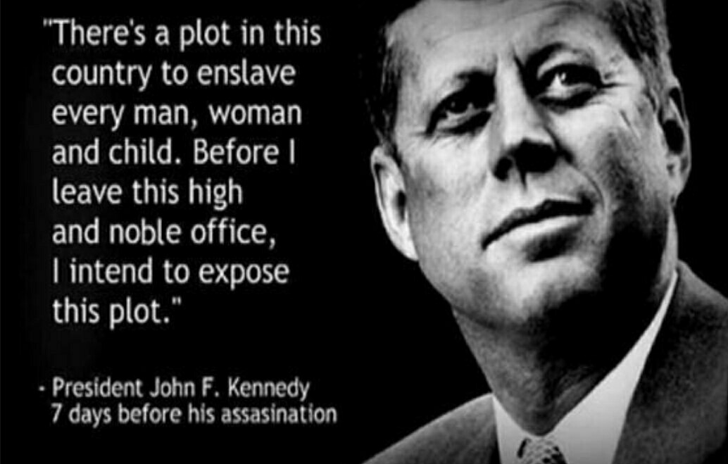 @BourdinFred @pj77777 4 bulletts 3 shooters 2 blanks Same islamic born DeepState that peddles a New World Order then as now.  #NWO  #JFK   He became informed by CIA of bad CIA and he reacted by eliminating those officers with implementation of the #MccarranWalters act.