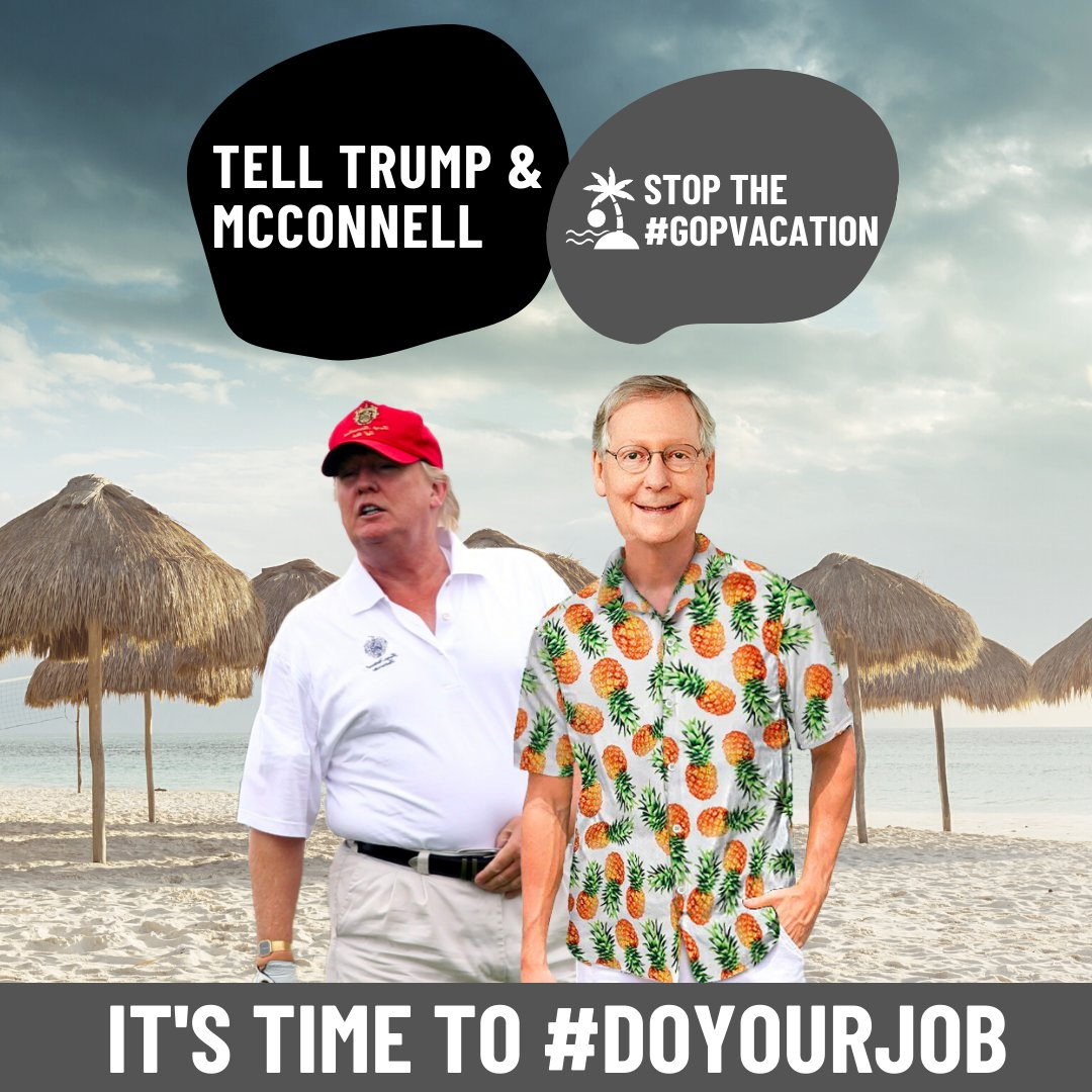 Another #GOPVacation for @senatemajldr McConnell's Senate without doing anything to protect essential workers, help struggling families or fund public schools. It's time to stop the #SenateFail, #DoYourJob and move on #HEROESActNow.