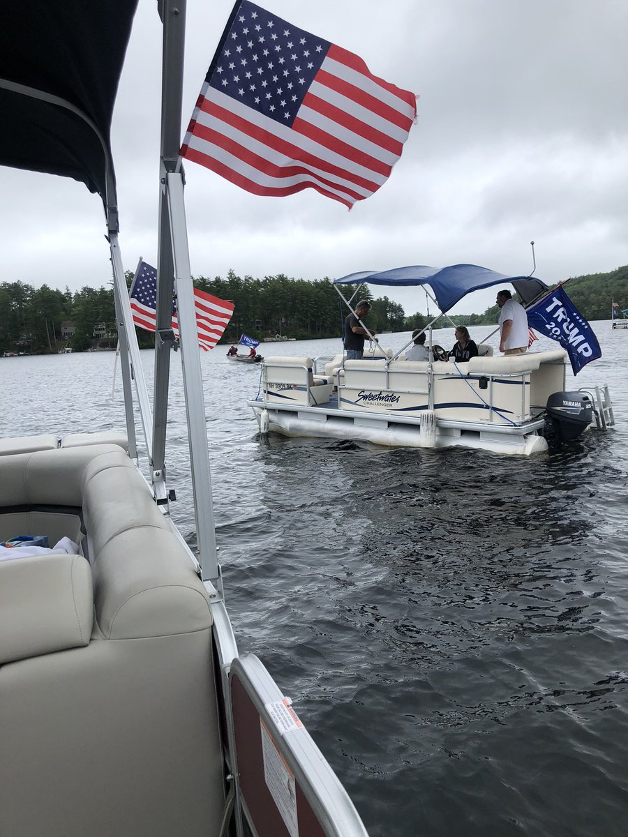 Great way to kickoff #4thofJuly weekend and our #NWOA with some #BoatersForTrump in Milton this morning! 🚤  Lots of thumbs up, friendly waves, and honking in support of our great President @realDonaldTrump 🇺🇸  Looking forward to doing it again! #LeadRight #nhpolitics #FITN