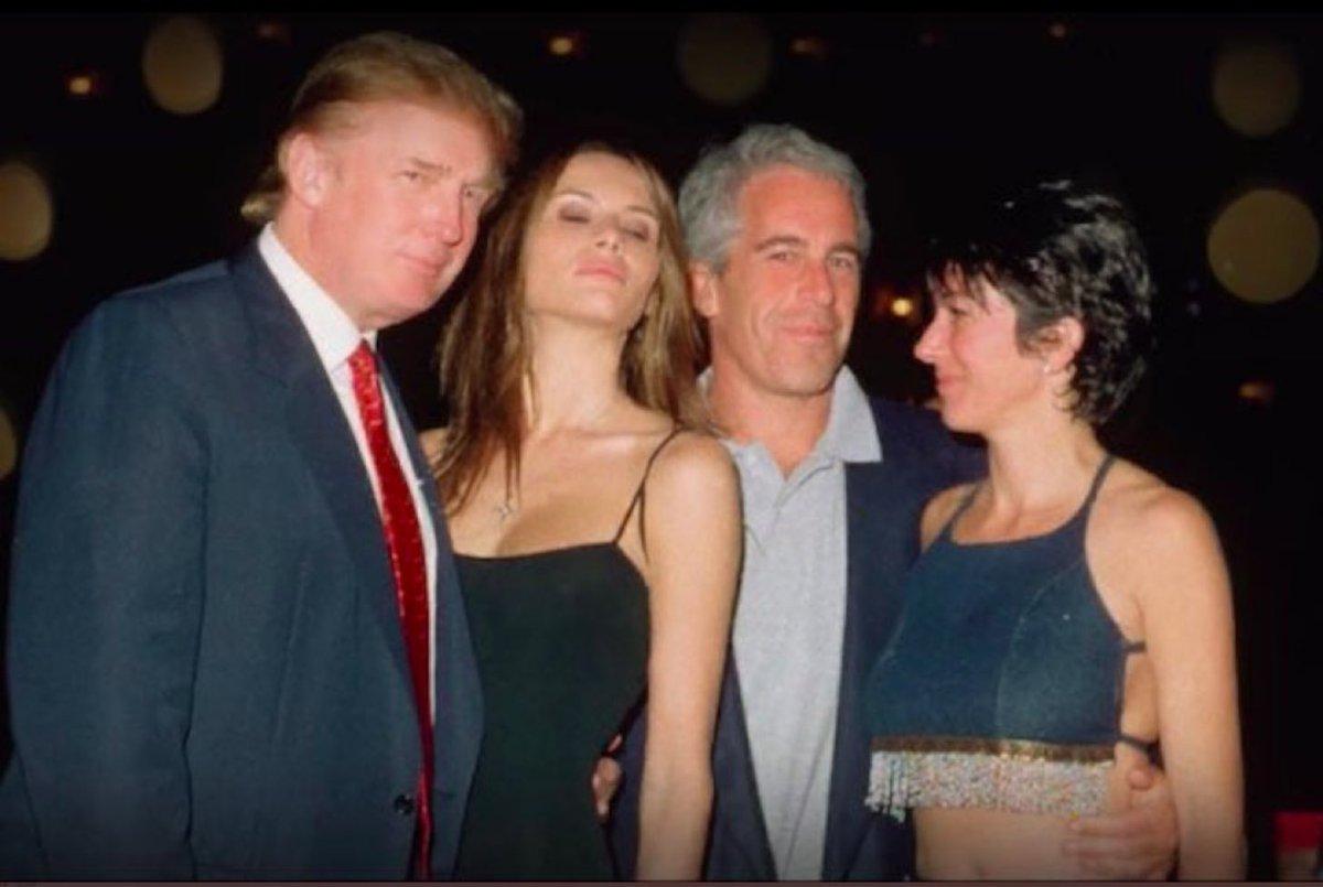 This is Trump with Ghislaine Maxwell and Jeffrey Epstein.   Epstein's offenses are well known, and Maxwell was arrested on sex trafficking charges yesterday.   Trump wants this photo to go away. Let's make sure it does not.   #HoldTrumpAccountable should trend. Pass it on.