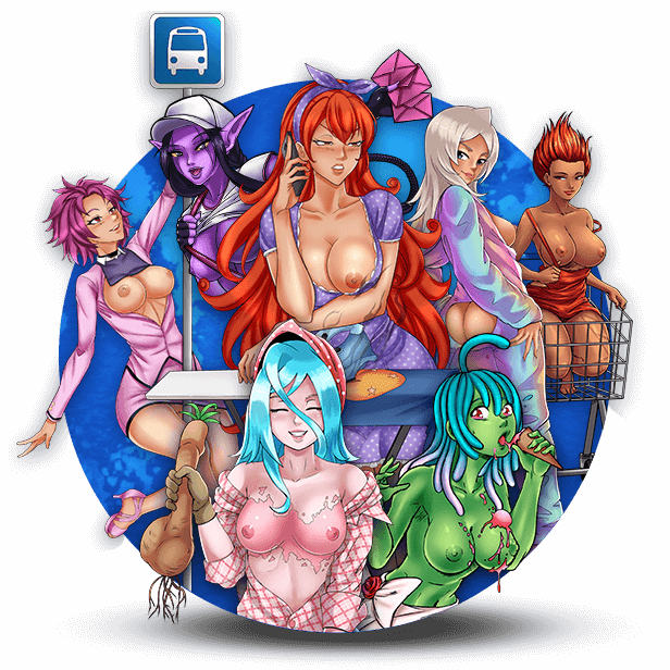 Summertime HARDNESS ☀️🍆, lawn chairs & iced up (cock)tails 🍹😏 await you with Ticket Inspector Kalissa, Clerk Delicia, and Bingewatching Samane! Cum💦 give them your neighborly handshake at the Epic Pachinko! 😍 😘 #lewd #anime #manga #waifu