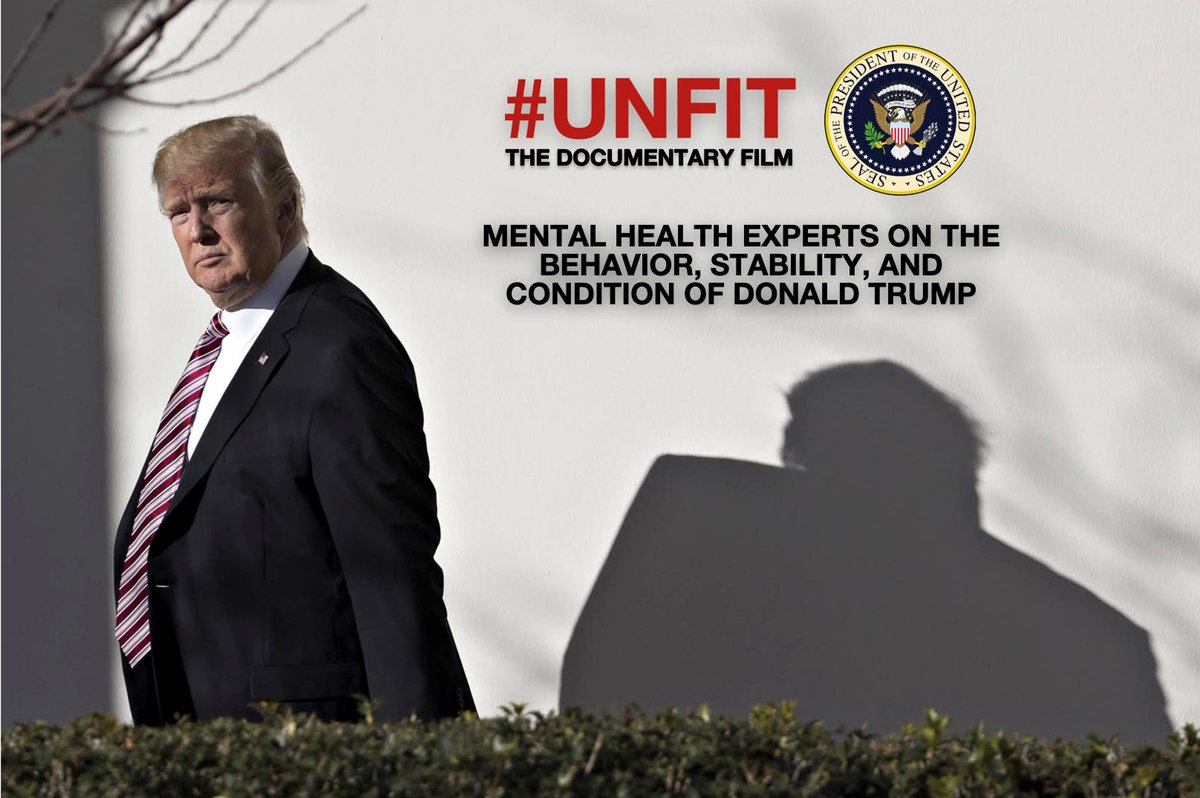 #UNFIT - SNEAK PREVIEW SCREENING - LINK IS LIVE!!  Everyone needs to watch this film. His pathology is NOT discussed, and THIS is our #1 DANGER!   Experts. Science. Truth.     3 days only - July 3,4,5 Hi-res stream Available globally  84 minutes $6  (more)
