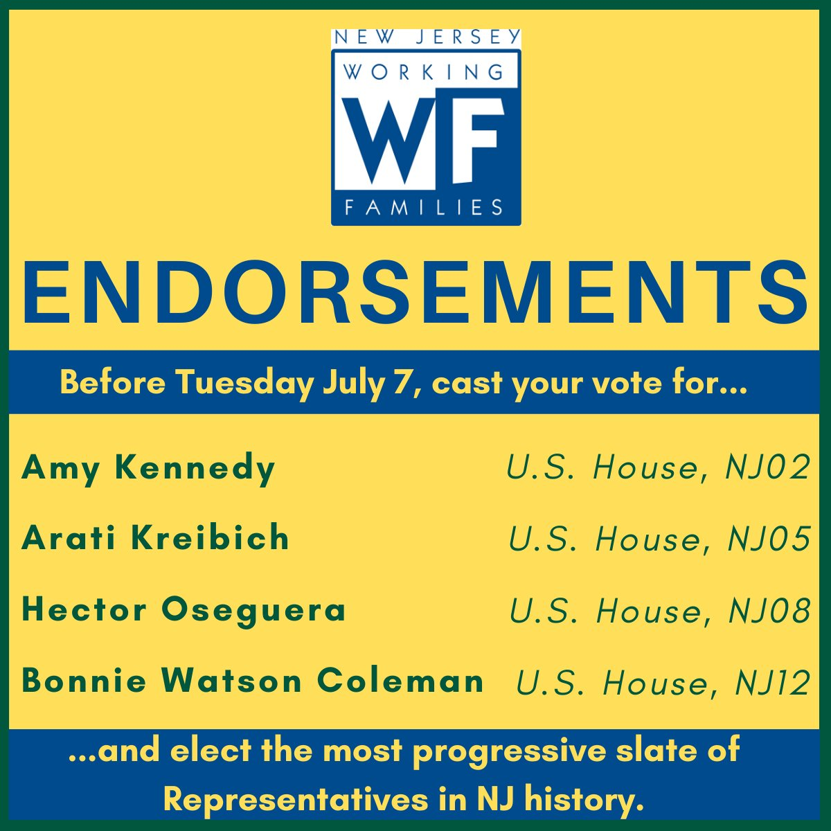 Be sure to vote for these progressive candidates and mail in your ballots before Tuesday! https://t.co/gKkB7XF49E