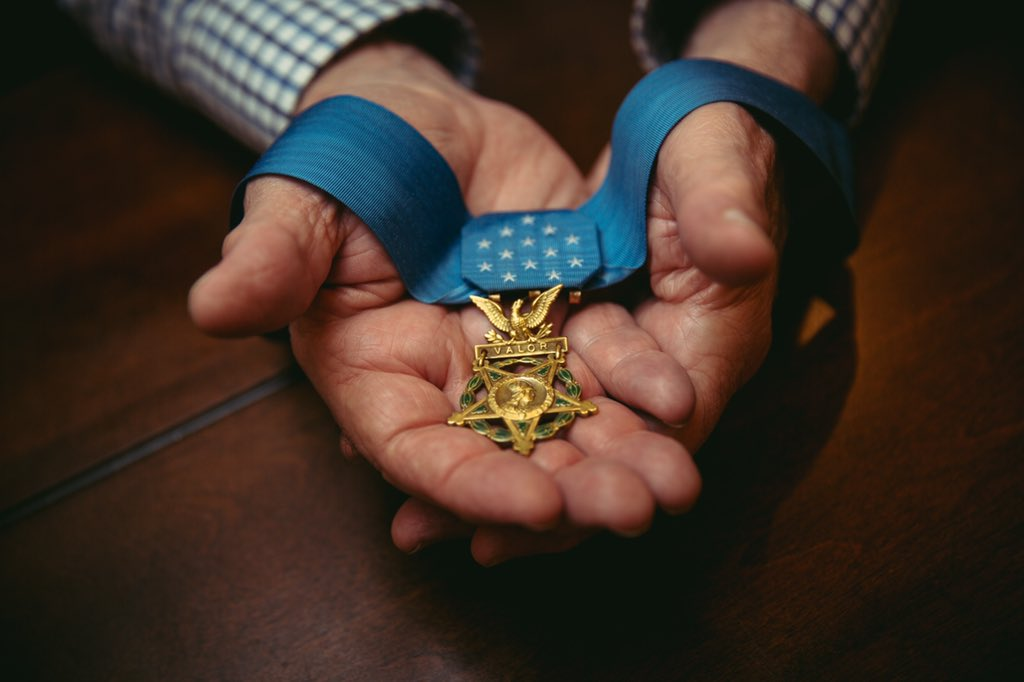 """#July4 Medal of Honor recipient World War II Veteran Woody Williams says the marines who died protecting him at Iwo Jima are never far from his mind, """"I have said, I wear the medal in their honor. It belongs to them.""""  WATCH: Saturday @CBSNews @CBSThisMorning #OriginalReporting"""