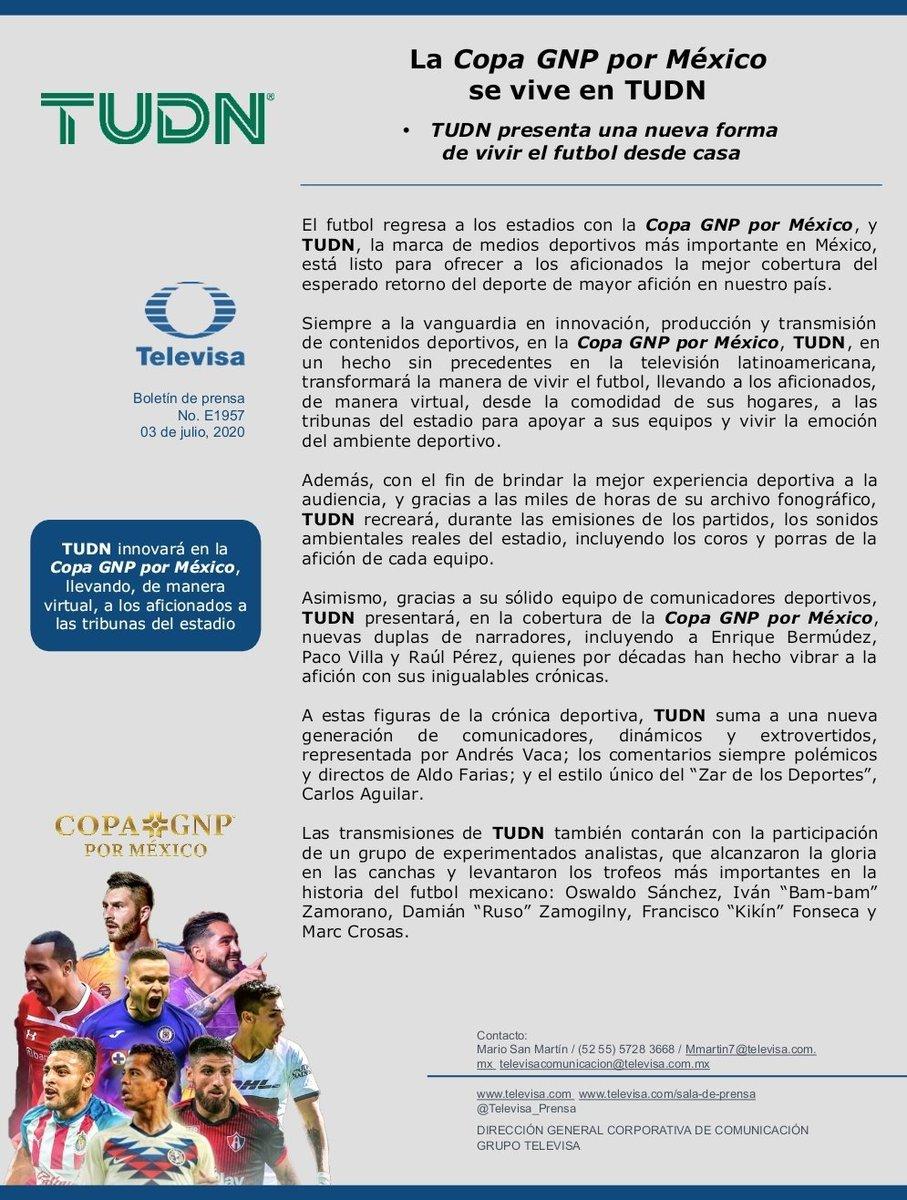 La #CopaGNPPorMexico se vive en @TUDNMEX 👏😎⚽️🥇🏆