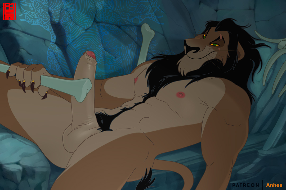Winter had come to south hemisphere and the obvious choice for the season in my TLK series of Season Kings is Scar, I particularly like this one. For me at least he's so seductive in the movie. Next King will arrive at Spring -w-  #anhes #TheLionKing #scar #gay #muscle