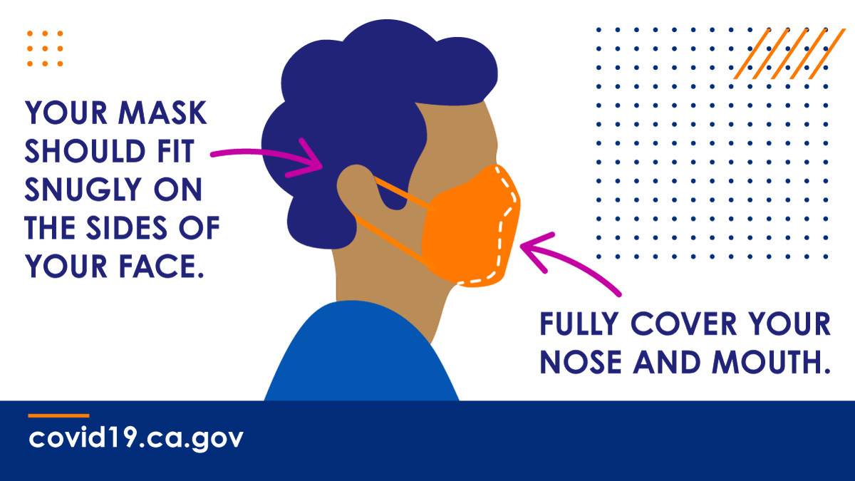 Putting your mask under your nose defeats the purpose of wearing a mask in the first place.   Wear a mask the right way and stay 6ft away from others to slow the spread of #COVID19. 👉🏾