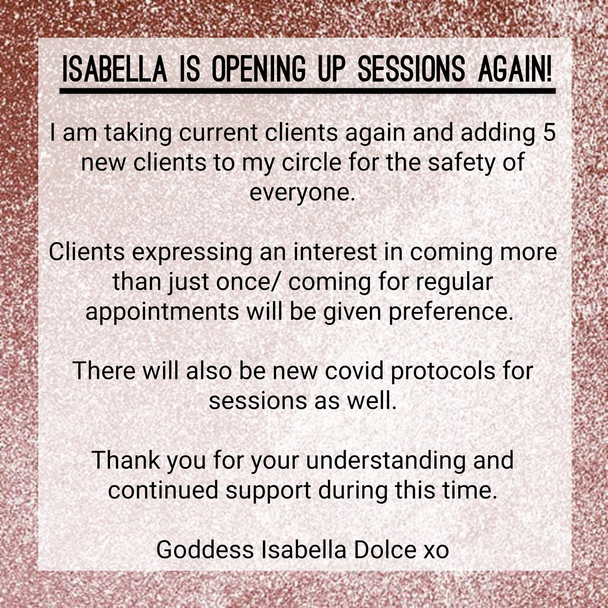 Sessions Announcement #sessions #footsessions #footsessionstoronto #footsessionsgta #footfetish #footmodel #footdom #perfectfeet #pedicure #goddess #domme #toronto #feetoftwitter