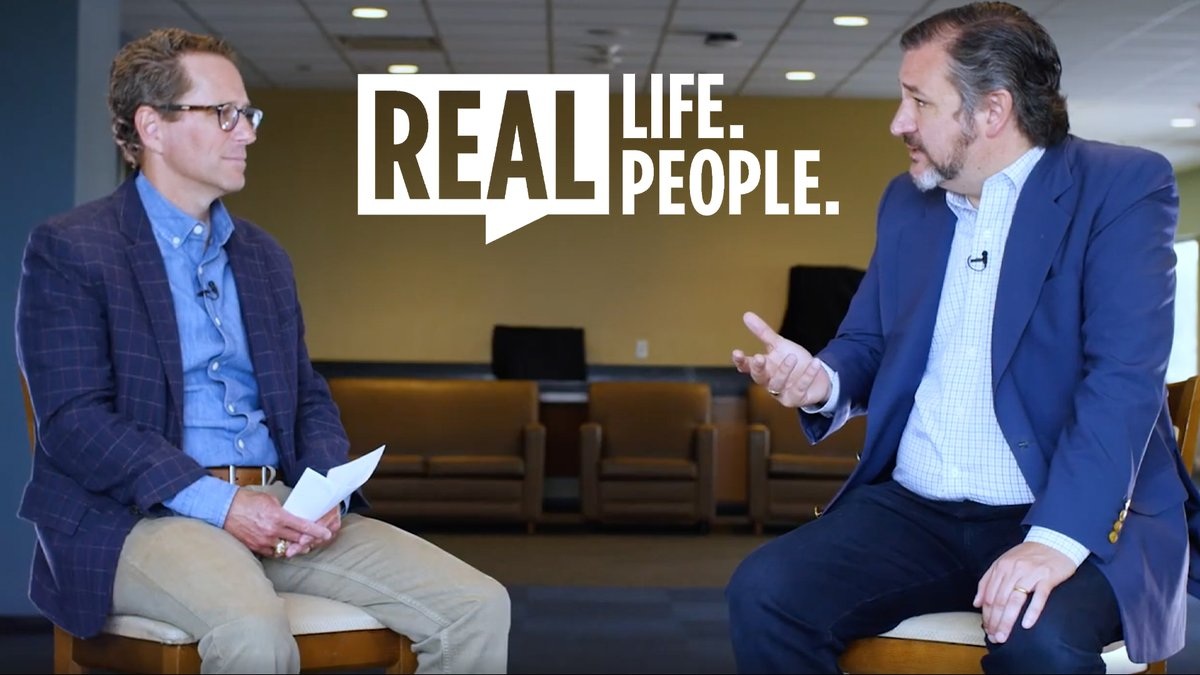 Honored to spend time with  @tedcruz in early May to talk about life as a public servant during COVID  -19, his role as a family man, and the importance of faith, in this three-part episode of Real Life, Real People.