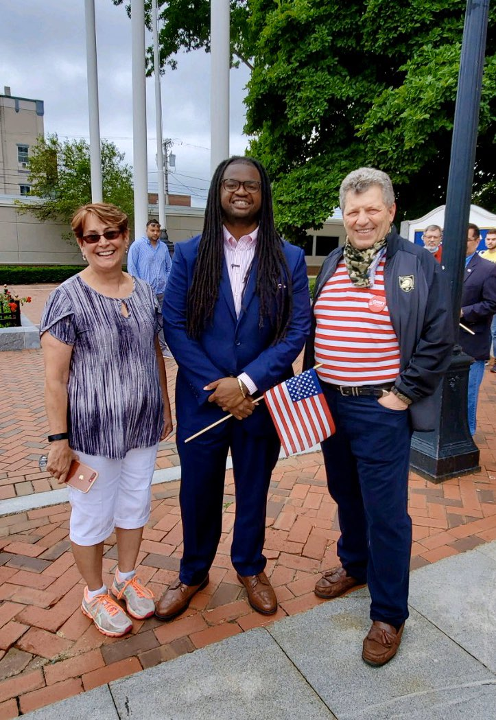 Patriotic morning today in front of Nashua City Hall for a 4th of July celebration!  Joined Bill O'Brien, Senator Regina Birdsell, Ryan Terrell and others!  #nhpolitics #NHSen #MAGA2020