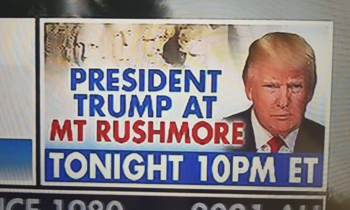 I'll be anchoring President @realDonaldTrump's big event at Mt. Rushmore on the @IngrahamAngle @FoxNews in moments. Tune in!!