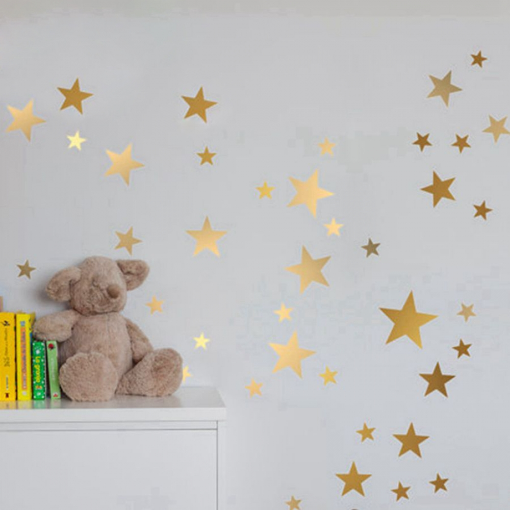 #design #wallstickers Glittery Stars Baby's Room Decoration Wall Stickers...