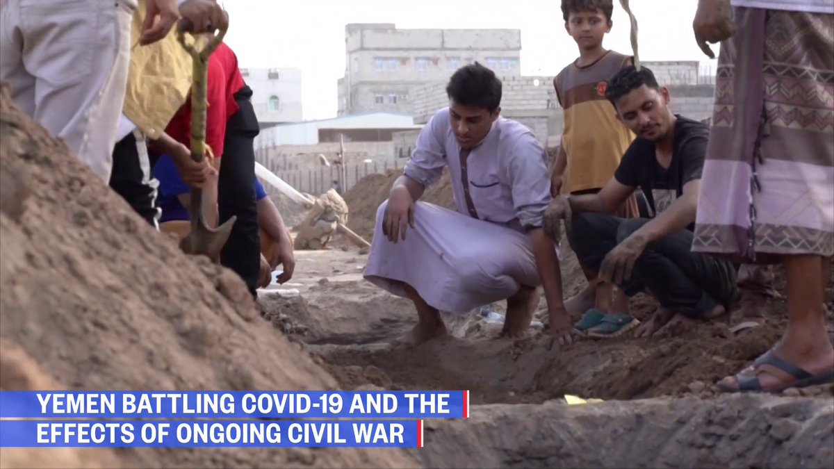 """""""We're talking about sheer life and death.""""   Yemen has been devastated by a civil war since 2015 and now it faces the #COVID19 pandemic.   @KeirSimmons reports."""