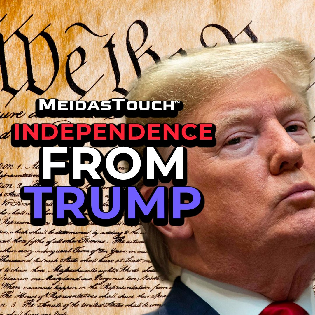 This 4th of July-   Declare #IndependenceFromTrump   @MeidasTouch does it to #BenedictDonald again‼️