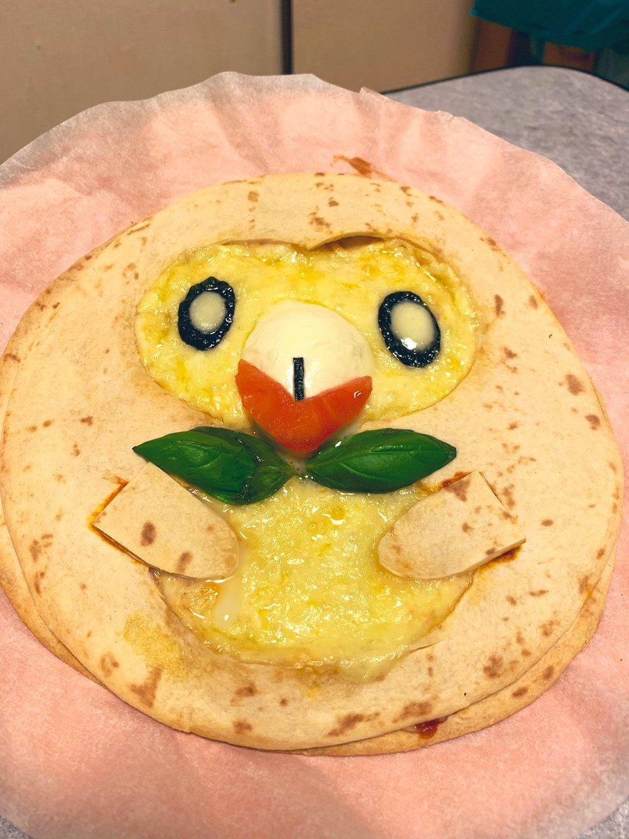 test ツイッターメディア - モクローのピザ! 思ったより簡単だった! 美味しかったよ!  #ポケモン #ポケカフェ https://t.co/40nczLXJOq