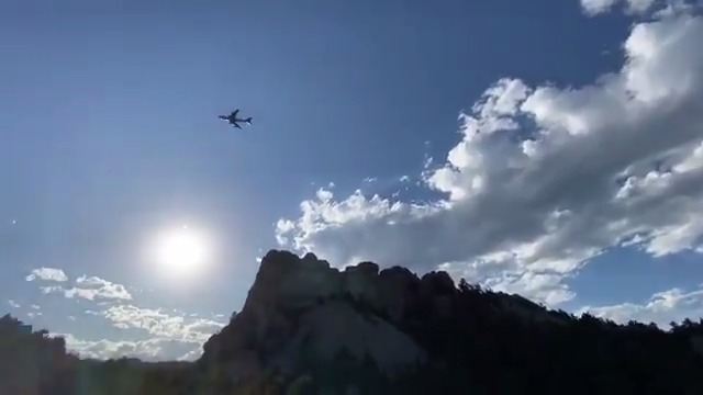 Air Force One does a flyover at Mt. Rushmore because President @realDonaldTrump is the coolest president ever 🇺🇸  #FourthofJuly