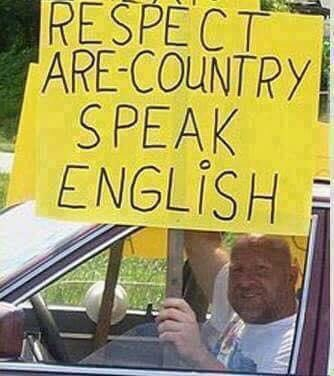 Please don't take English lessons from this man: