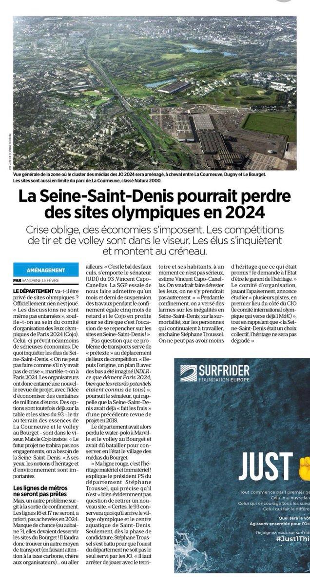 RT @Capo_Canellas: Retrouvez l'article @le_Parisien sur l'éventuelle évolution du projet @Paris2024 avec ma réaction