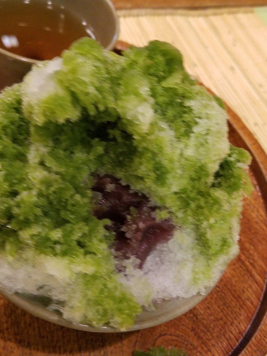 test ツイッターメディア - そして赤福氷!!🙌  15年ぶりに食べました  抹茶のかき氷に赤福もちが✨✨  美味しいですな😌 https://t.co/niLjOfbPBE