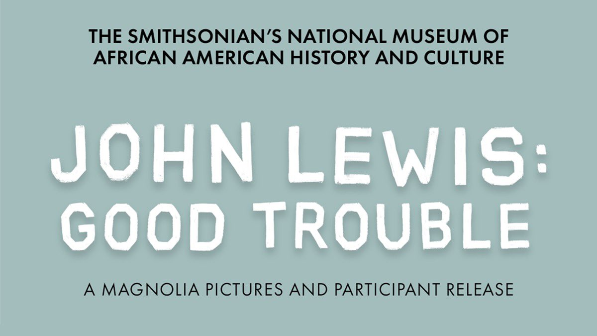 """Find out what 'Good Trouble"""" is with civil activist John Lewis @JohnLewisDoc #JohnLewisisGoodTrouble"""
