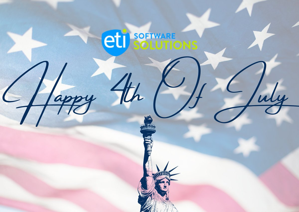 From all of us at ETI, Happy 4th of July. We wish you a joyful and safe celebration of this remarkable day in our nation's history. #etisoftware #telecomsoftware #beamfly #broadband #fourthofjuly #independenceday #usa #memorialdayweekend #redwhiteblue