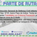 RT @DcChubut: 11:10hs #Partederutas Nac. N°25 tramo Paso de Indios-Tecka   @MinSegChubut https://t.co/cLxIV95uPc