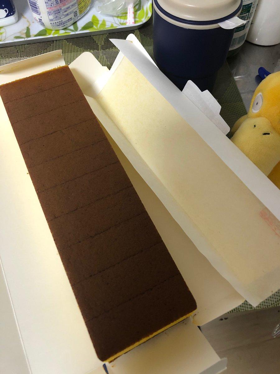 test ツイッターメディア - ザラメがおいしい福砂屋の五三焼きカステラさん。コダックと同じ色で卵たっぷり🥚 https://t.co/84WVAyQViw