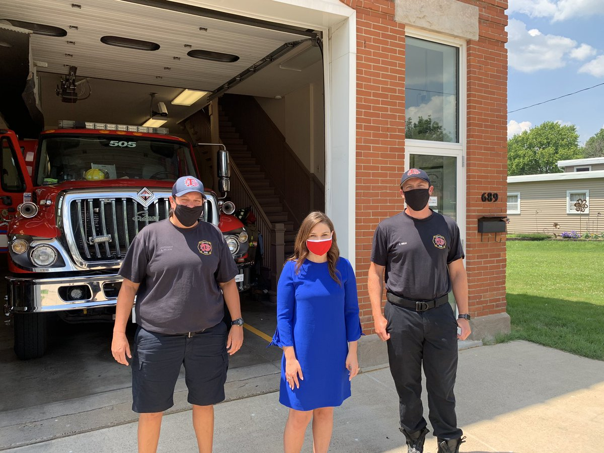 My late grandfather Ron Kann was a firefighter in Dubuque & he taught me what public service is all about: helping your neighbors. I'm so grateful I was able to visit some of our finest firefighters around the district yesterday & thank them for all they do to keep us safe. #IA01