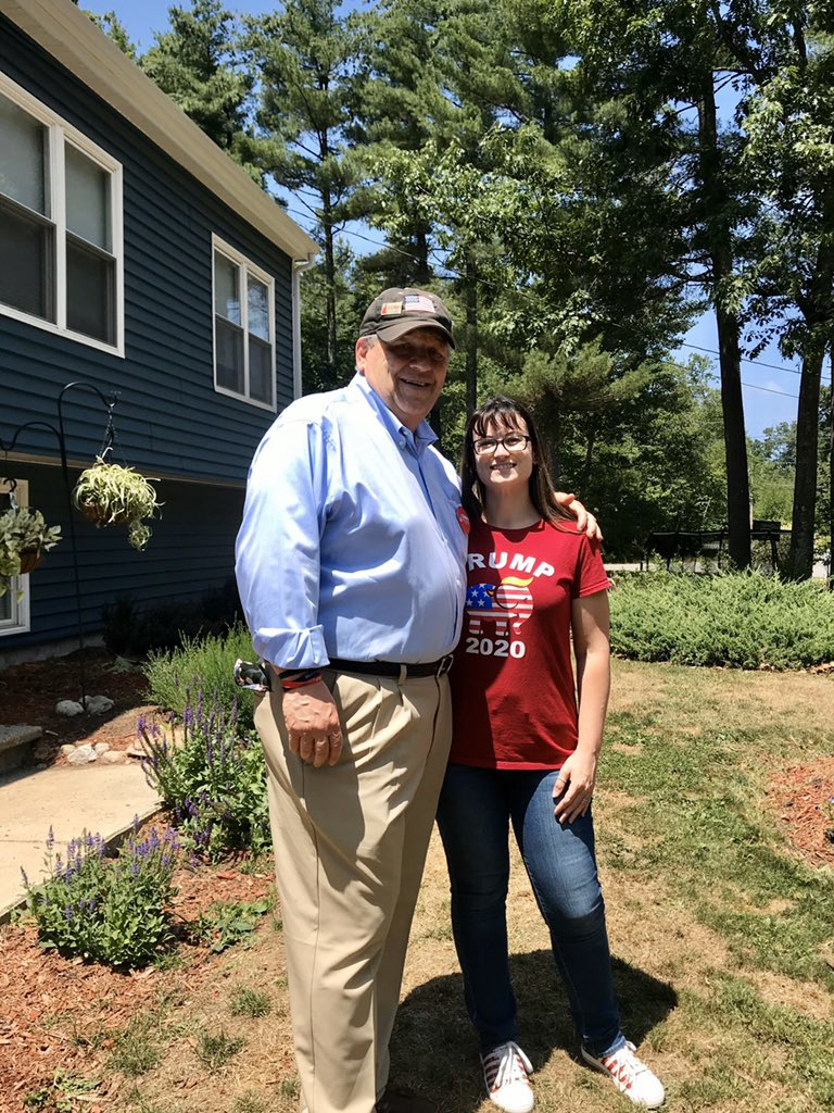 Festive 4th of July get-together at the home of Cory and Lauren LaMarsh in Derry.  Thank you for having us, Cory & Lauren!  #nhpolitics #NHSen #MAGA2020