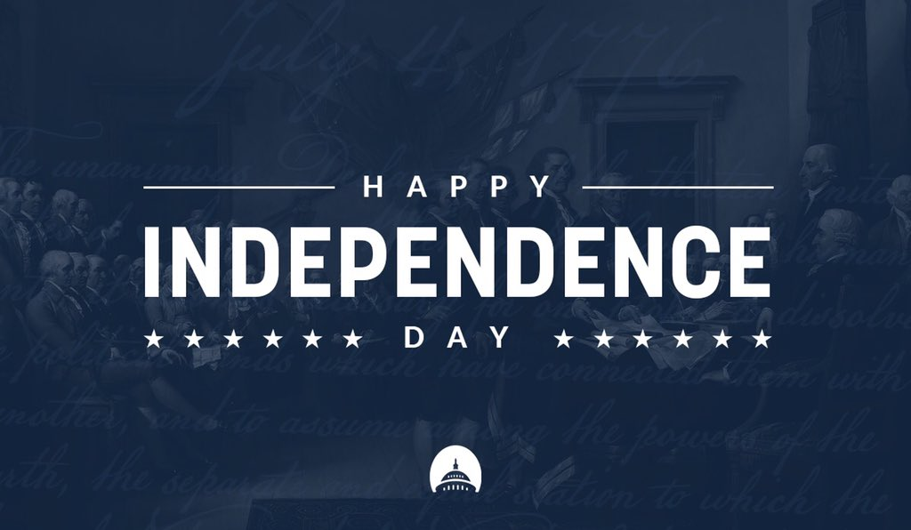 Today we celebrate our nation's founding. America is the greatest nation in the world, and especially today, we should rededicate ourselves to continuing the important work of making her better. Have a safe and happy Independence Day!
