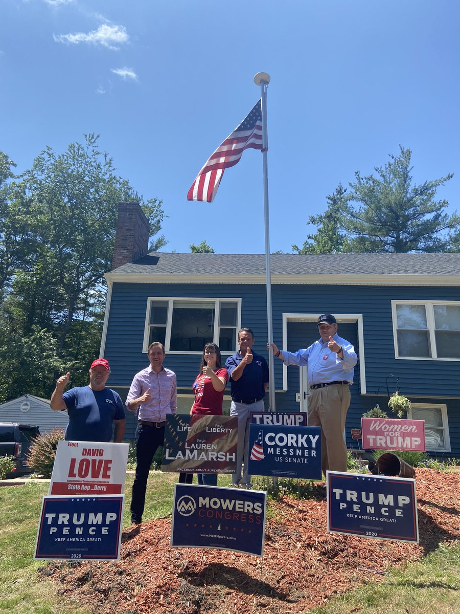 Enjoyed swinging by Cory and Lauren LaMarsh's cook out in Derry! #nhpolitics #nh01