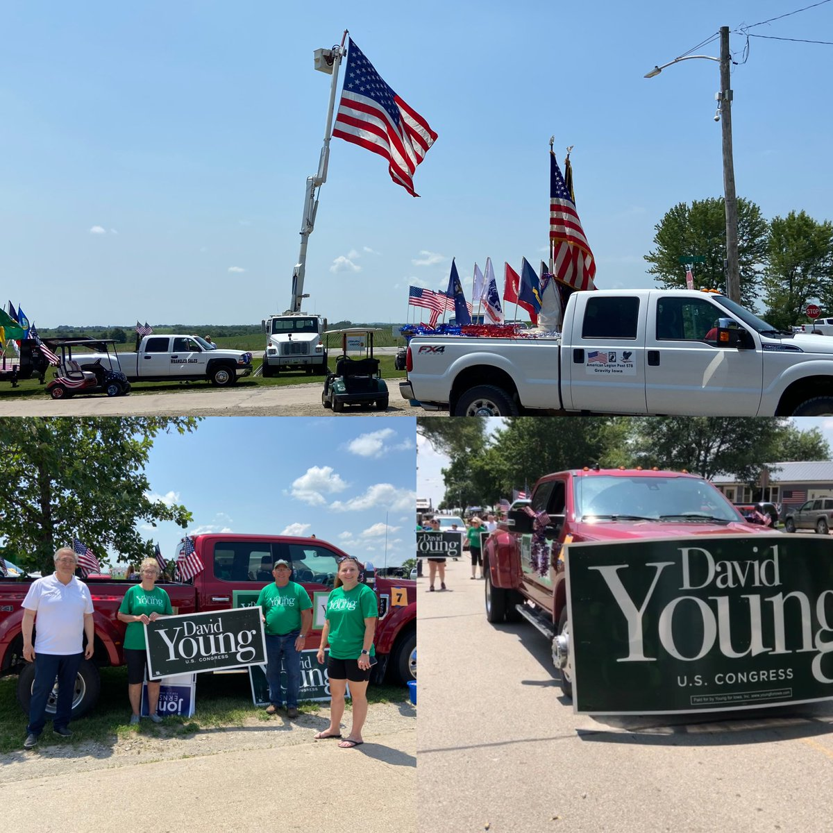 It was starting to get warm in New Market, but we made it through the parade. I love the giant U.S. flag they fly every year alongside the highway. #IA03