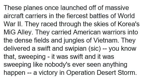 People are sharing a short clip that makes it seem like Trump said Desert Storm happened in Vietnam. He did not, though he stumbled. Here's the transcript of that section.