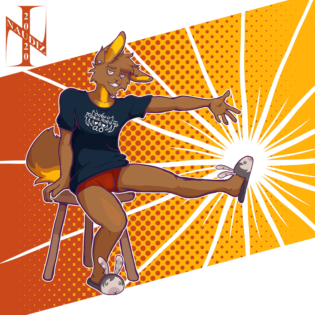 Raffle prize for @Scrubbenyan, featuring his rabbit, Mason, showing off some new kicks modeled after a special someone.  Comments, RTs much appreciated! 🧡🐰💚  #furry #anthro #furryart #anthroart