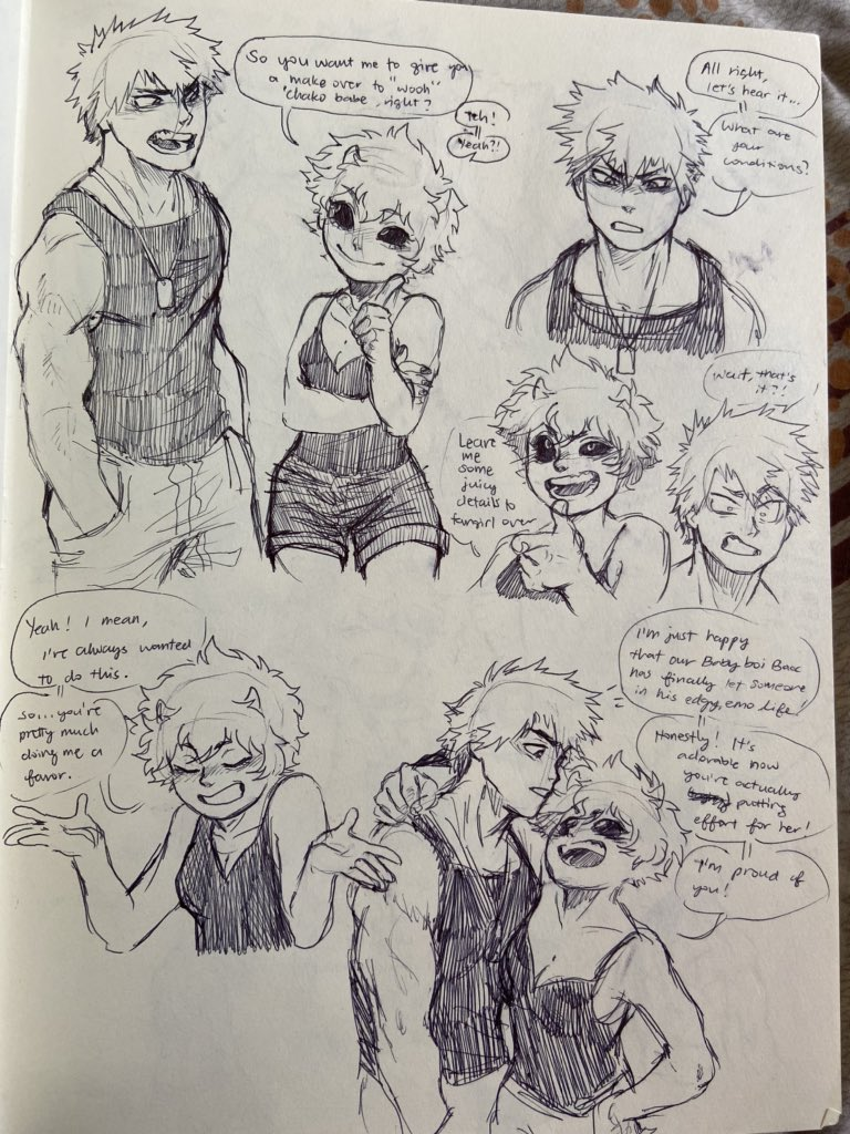 Here's another thing XD (I might be taking just a short break today, so I might not post as much, hope you guys understand :3)  #bakusquad #kacchako #bakugoukatsuki #minaashido