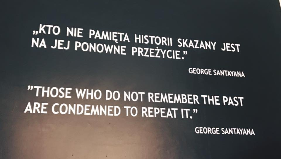 These words are inscribed on the wall at Auschwitz, where a memorial is maintained so we never forget.  Leaving most monuments in place while stating the inhumanities associated with them is a better lesson for future generations than tearing them down indiscriminately in anger.