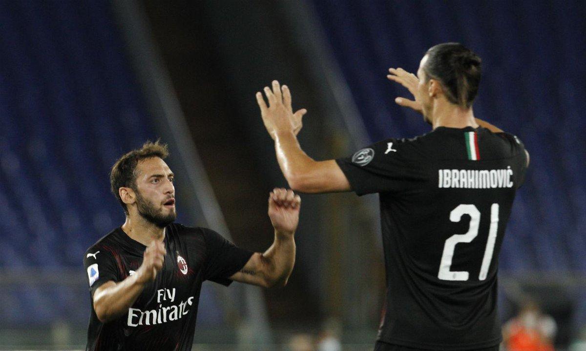 Lazio antes do jogo de hoje  2° melhor ataque do campeonato: não passou pela defesa do Milan  2° melhor defesa do campeonato: levou 3 gols do Milan  VITÓRIA GIGANTE! 🔴⚫