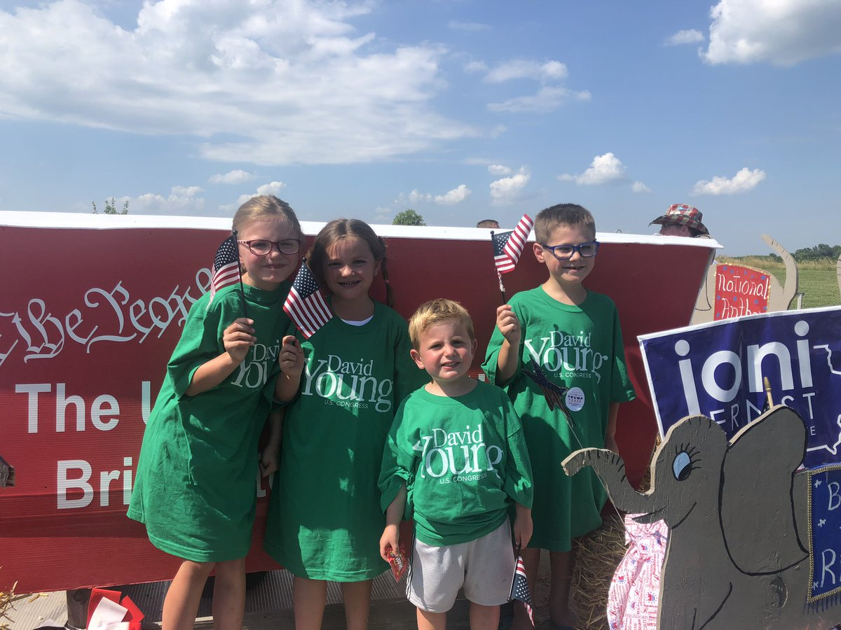 Finished the day strong in Truro this afternoon!  Thanks to these young kids who came out and walked with us! #IA03