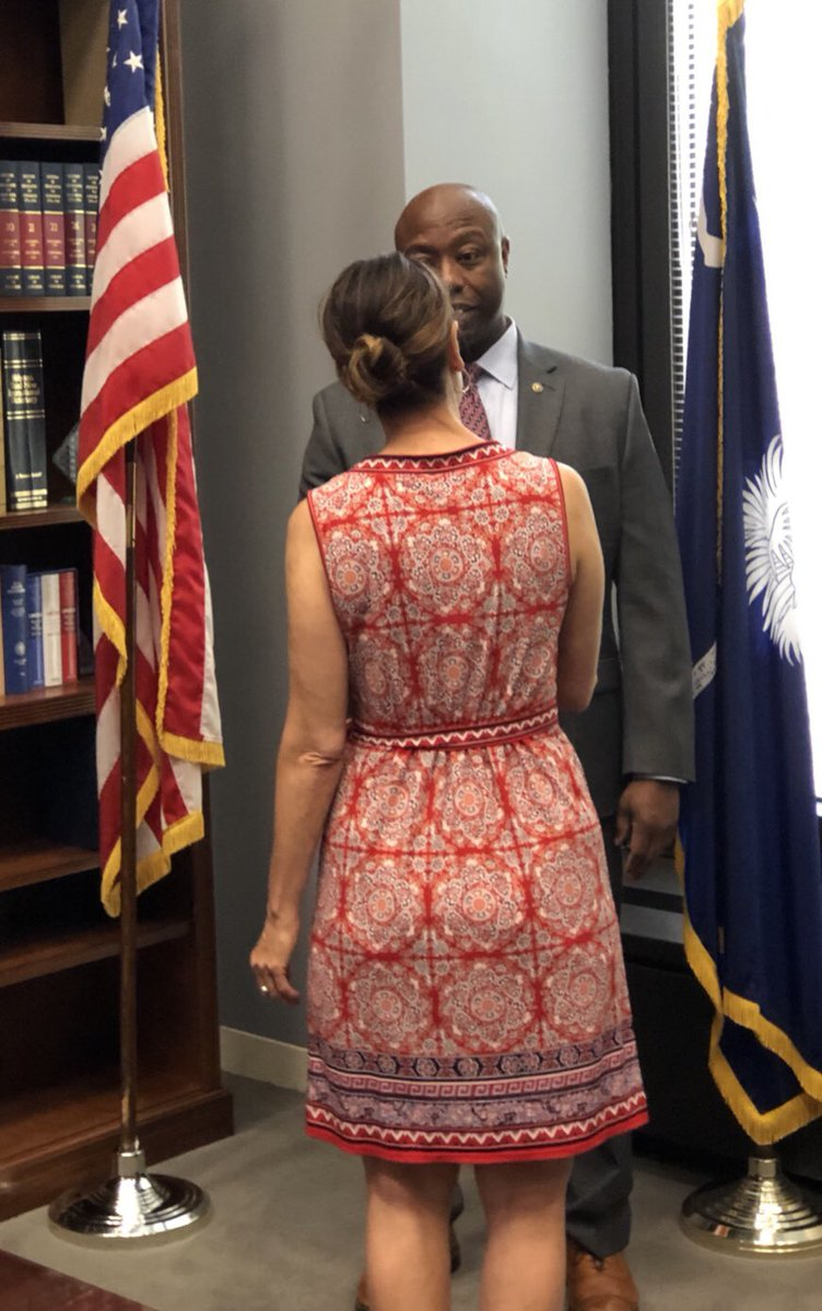 This was the moment last July when I told @SenatorTimScott that I was resigning from #SCGOP because I believed #Trump to be a racist. I have not one regret. #LincolnProject #ByeDon2020 #VoteHimOut