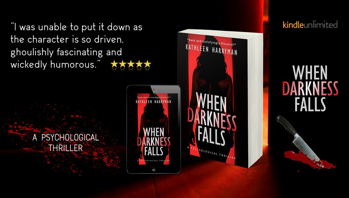 Are serial killers mad or evil? 🔪  When Darkness Falls is a book that you will not be able to put down until the last page is turned. A testament to the human fascination with the criminal mind. #FREE #Kindleunlimited #bookworms #amreading #SUSPENSE  #RT